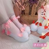 配漢服鞋子女增高仙氣舞蹈鞋學生cos帆布鞋軟萌可愛改良版古風鞋 快速出貨