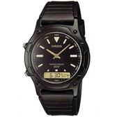 【CASIO】酷玩雙顯腕錶-黑X金(AW-49HE-1A)