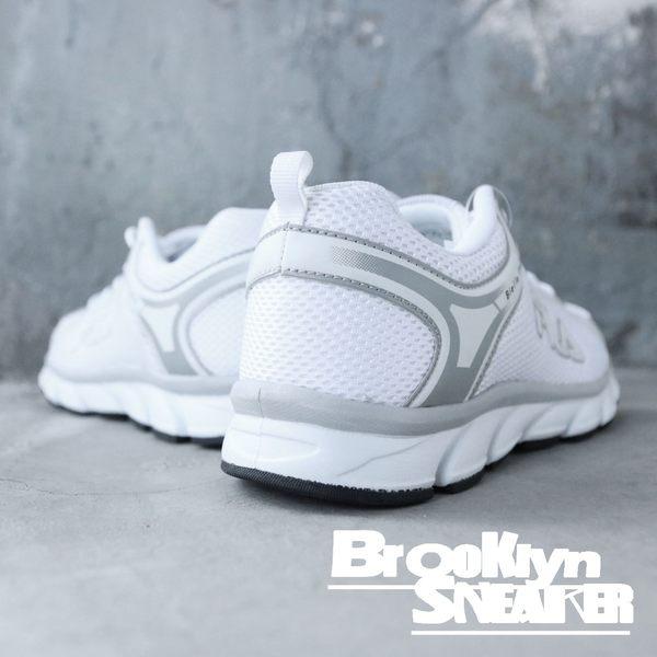 FILA  全白 學生鞋 透氣 復古 休閒鞋 慢跑鞋 女 (布魯克林) 5J972Q141