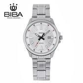 法國 BIBA 碧寶錶 經典系列 藍寶石玻璃 石英錶 B121S101W 白色 - 42mm