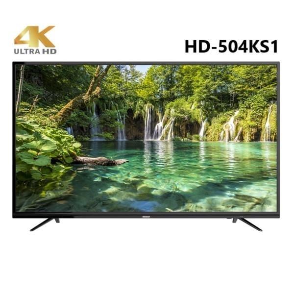 【南紡購物中心】HERAN 禾聯 50吋 4K LED連網液晶顯示器+視訊盒 HD-504KS1