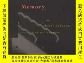 二手書博民逛書店Matter罕見And MemoryY307751 Henri Bergson Zone Books, 199