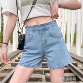 短褲 高腰夏季牛仔單寧短褲女夏寬鬆外穿寬管顯瘦百搭  【快速出貨】