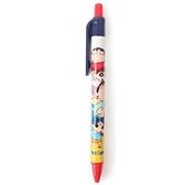 小禮堂 蠟筆小新 原子筆 藍筆 自動筆 (紅藍 疊高) 4710588-01042