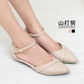 尖頭鞋 壓摺尖頭繞帶低跟鞋- 山打努SANDARU【107218#46】