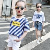 女童純棉短袖T恤寬鬆兒童裝2018新款夏裝韓版上衣中大童學生半袖 小巨蛋之家