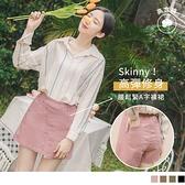 高含棉不對稱造型彈力A字短褲裙--適 2L~6L OrangeBear《BA5449》