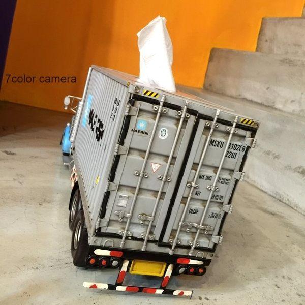 《7color camera》貨櫃 卡車 面紙盒 紙巾盒 工業風 創意 生活