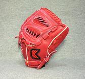 「野球魂」--「KAULIN」【店家特製】硬式棒球手套(投手,KG-021,鯊魚檔,紅色)