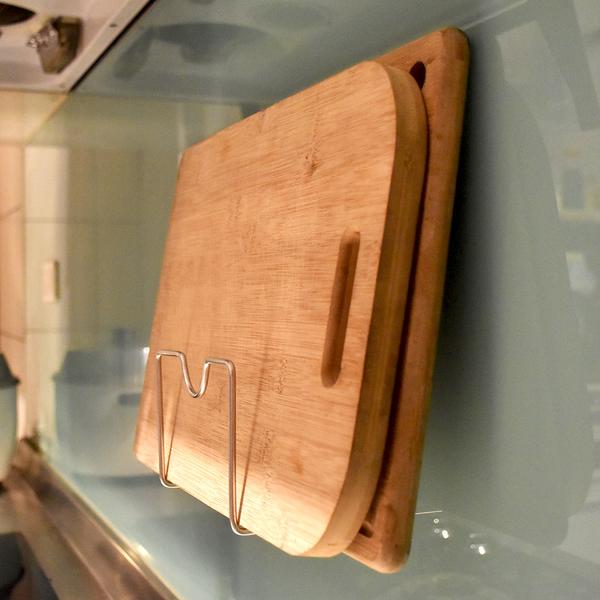 鍋蓋砧板兩用架 304不鏽鋼無痕掛勾 易立家生活館 舒適家企業社 壁掛式廚房收納放置瀝水架