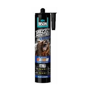 BISON灰熊10秒快速接著強力萬用膠室內外通用白色435g