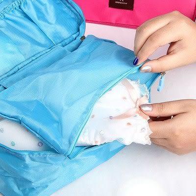 【全館5折】WaBao 旅行時尚有蓋內衣收納盒 =Z03139=