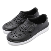 Nike 休閒鞋 Foam Force 1 PS 黑 白 Air Force 免綁鞋帶 氣孔設計 童鞋 中童鞋【PUMP306】 AT5243-001
