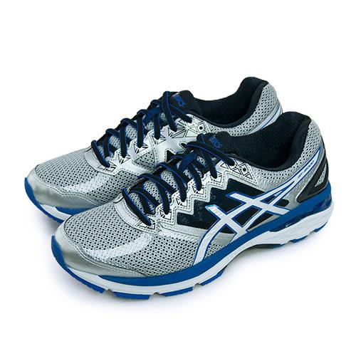 LIKA夢 ASICS 亞瑟士 專業慢跑鞋 GT-2000 4 銀黑藍 T606N-9301 男