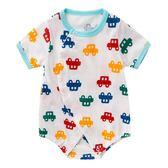 新生兒夏季6寶寶短袖包屁衣0-3個月哈衣純棉連體衣嬰兒夏裝 AD620『毛菇小象』
