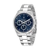【Maserati 瑪莎拉蒂】COMPETIZIONE鋸齒錶圈三眼雙色鋼帶腕錶/R8853100022/台灣總代理公司貨享兩年保固