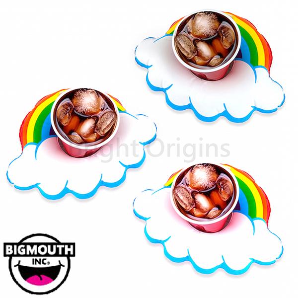 美國 Big Mouth 造型飲料杯游泳圈 彩虹