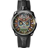 BOMBERG 炸彈錶 BOLT-68 Skull Pearl 珍珠骷顱手錶-彩色 BS45H3PBA.SKP-1.3