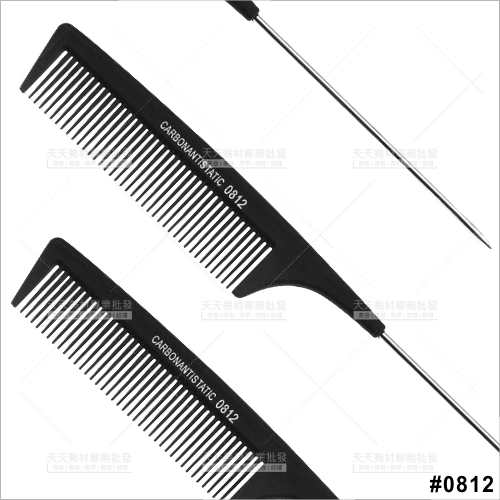 派迪佳抗熱碳纖鐵尖尾梳(0812)-單支[46483]
