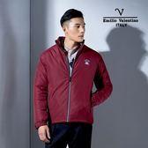 Emilio Valentino范倫鐵諾經典防風鋪棉保暖外套(暗紅)