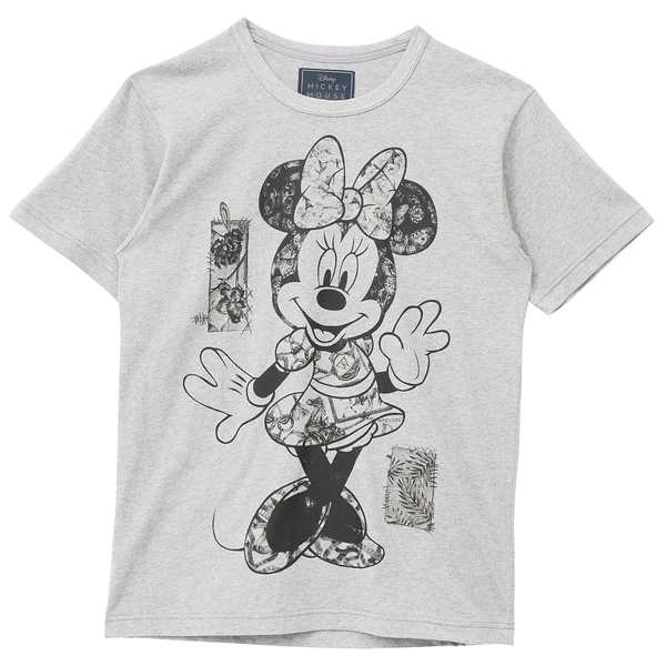 [Disney聯名限量款]Posing 中性短袖圖樣T恤(灰)-Daniel Wong狂野夜想系列