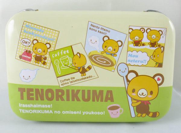 【震撼精品百貨】Tenorikuma 拿鐵熊~置物空盒方型鐵盒『亮綠』