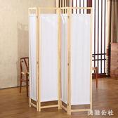 屏風 高檔現代布藝折屏簡約日中式 ZB1049『美鞋公社』