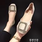 豆豆鞋新款夏季適合腳寬腳胖的單鞋女仙女晚晚鞋百搭網紅平底 蓓娜衣都
