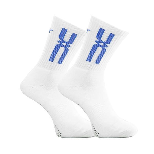 Mizuno Socks [32TX000821] 男襪 運動 排球 休閒 厚底 中筒襪 台灣製 白紅 25-27cm