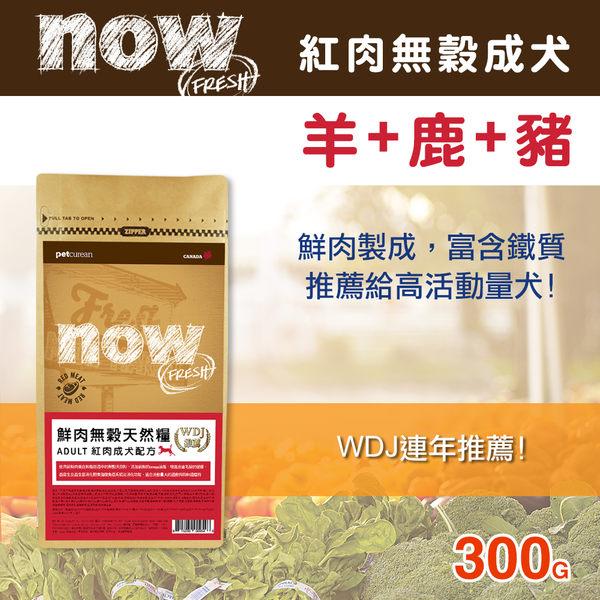 【毛麻吉寵物舖】Now! 紅肉無穀天然糧成犬配方-300克 狗飼料/WDJ推薦/狗糧