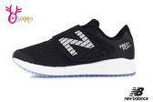 New Balance 飛機鞋 亮眼顯色 中童 寬楦 運動鞋 O8492#黑色◆OSOME奧森童鞋