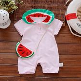 【好康618】寶寶童裝爬爬衣女童可愛爬衣短袖連身衣夏