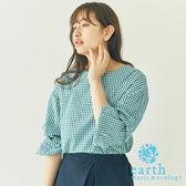 ❖ Hot item ❖ 3WAY袖子設計小格紋上衣 - earth music&ecology