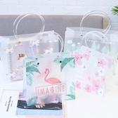 文藝禮品袋 手提袋 pp塑料 創意禮物 可愛獨角獸購物包裝袋 降價兩天