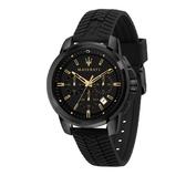 MASERATI 瑪莎拉蒂 經典三眼計時矽膠錶帶腕錶44mm(R8871621011)