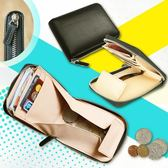 【喜番屋】真皮頭層牛皮大容量拉鍊皮夾皮包零錢包硬幣包卡片夾卡片包男夾女夾【LH300】