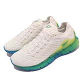 【海外限定】Reebok 慢跑鞋 Zig Kinetica (REE)CYCLED 米白 藍 綠 漸層 男鞋【ACS】 FX1105