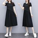 M-5XL胖妹妹大碼洋裝連身裙~大碼連衣...