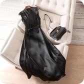 洋裝-無袖時尚修身高貴V領連身裙2色73sz5[時尚巴黎]