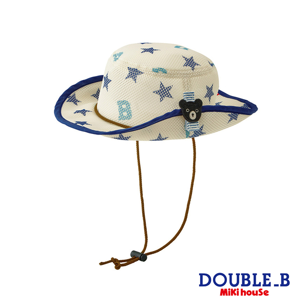 DOUBLE_B 黑熊星星抗UV遮陽帽(藏藍)