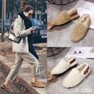 毛毛鞋女冬外穿2019年新款韓版百搭平底棉鞋網紅豆豆鞋加絨女鞋子