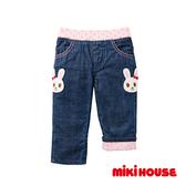 MIKI HOUSE 舞颯兔反摺保暖牛仔褲(靛藍)
