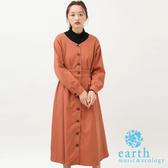 ❖ Autumn ❖ 前排釦V領收腰連身洋裝 - earth music&ecology