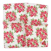 Sybilla 薔薇波浪邊刺繡純綿帕領巾(紅色)989164
