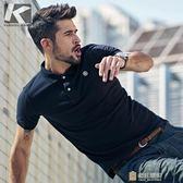 夏季男士短袖Polo衫 時尚繡標翻領T恤 棉質男裝一件免運