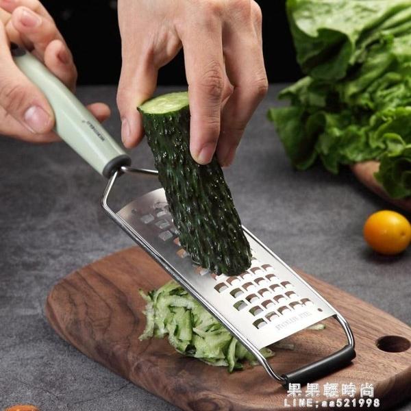 304不銹鋼刨絲器土豆擦絲器 廚房多功能切片器姜蒜磨蓉器【果果精品】