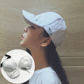 白色帽子女夏天時尚個性鴨舌帽女士棒球帽女韓版休閒百搭潮人學生   mandyc衣間