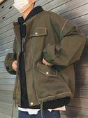 外套男 韓版潮流男士工裝外套寬鬆休閒百搭夾克   琉璃美衣