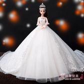 芭比娃娃婚紗女孩公主套裝【優兒寶貝】