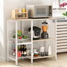 儲物架 耐家廚房置物架微波爐架落地架廚房電器層架收納儲物架碗架烤箱架